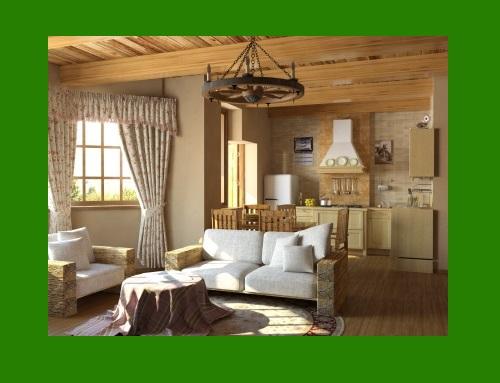 Деревенский стиль в интерьере, зеленый блог